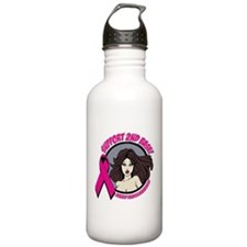 2nd Base Girl Breast Cancer Water Bottle