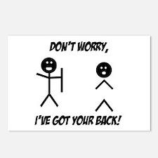 I've got your back Postcards (Package of 8)