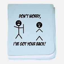 I've got your back baby blanket