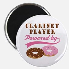 Clarinet Player Powered By Donuts Magnet