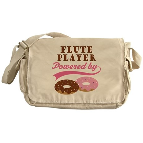 Flute Player Powered By Donuts Messenger Bag