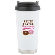 Flute Player Powered By Donuts Travel Mug