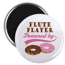 Flute Player Powered By Donuts Magnet