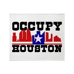 Occupy Houston Throw Blanket