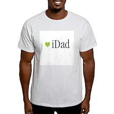 iDad Green Father & Baby Ash Grey T-Shirt
