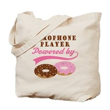 Saxophone Player Powered By Donuts Tote Bag