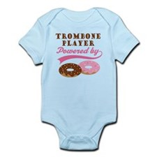 Trombone Player Powered By Donuts Infant Bodysuit