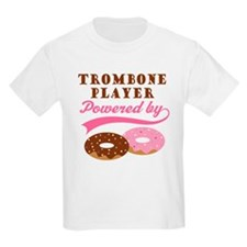 Trombone Player Powered By Donuts T-Shirt