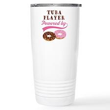 Tuba Player Powered By Donuts Travel Mug