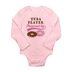 Tuba Player Powered By Donuts Long Sleeve Infant B