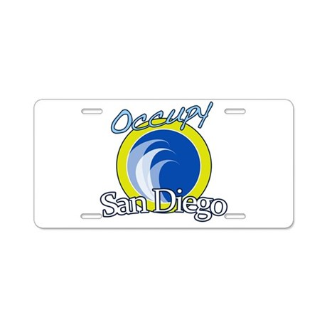 Occupy San Diego Aluminum License Plate