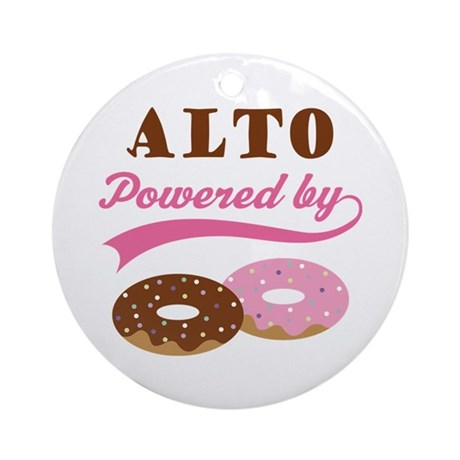 Alto Powered By Donuts Ornament (Round)