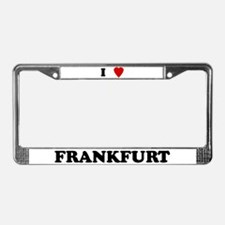 I Love Frankfurt License Plate Frame