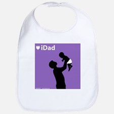 iDad Purple Father & Baby Bib
