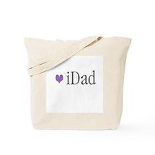 iDad Purple Father & Baby Tote Bag