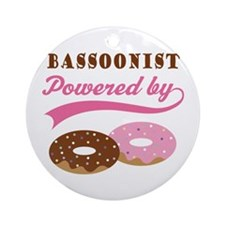 Bassoonist Powered By Donuts Ornament (Round)