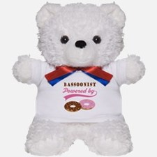 Bassoonist Powered By Donuts Teddy Bear
