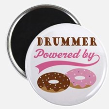 Drummer Powered By Donuts Magnet