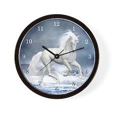 White Unicorn 1 Wall Clock