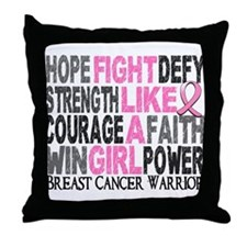 Licensed Fight Like a Girl 23.4 Throw Pillow