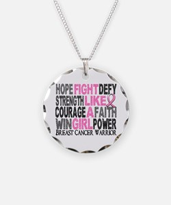 Licensed Fight Like a Girl 2 Necklace
