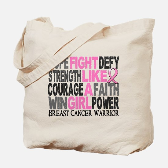 Licensed Fight Like a Girl 23.4 Tote Bag