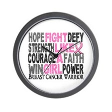 Licensed Fight Like a Girl 23.4 Wall Clock