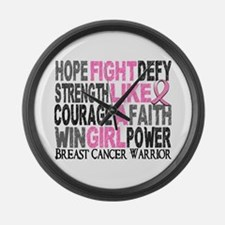 Licensed Fight Like a Girl 23.4 Large Wall Clock