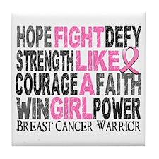 Licensed Fight Like a Girl 23.4 Tile Coaster
