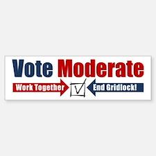Vote Moderate Bumper Bumper Sticker