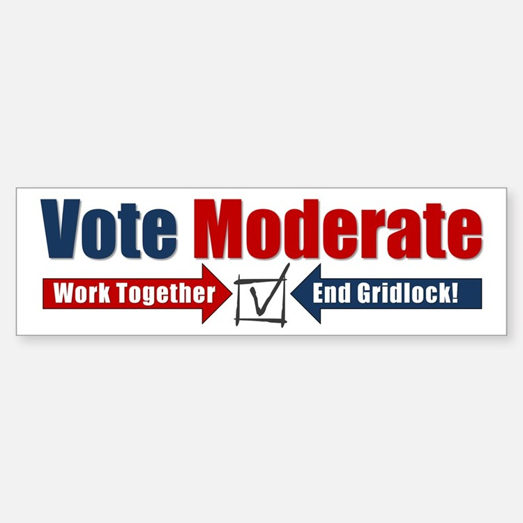 Vote Moderate Bumper Bumper Sticker