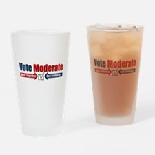 Vote Moderate Drinking Glass
