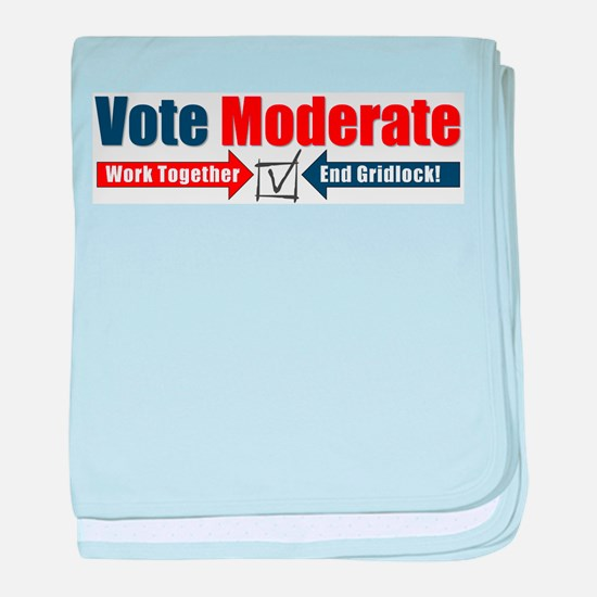 Vote Moderate baby blanket