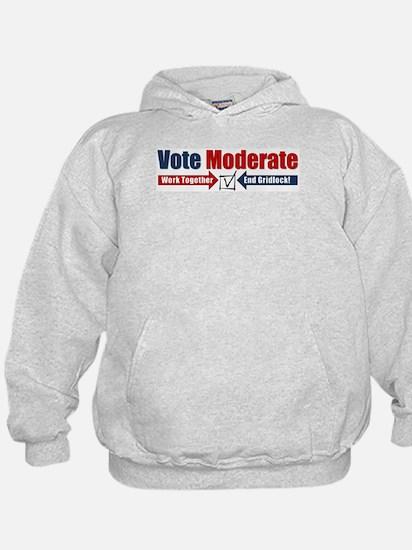 Vote Moderate Hoodie