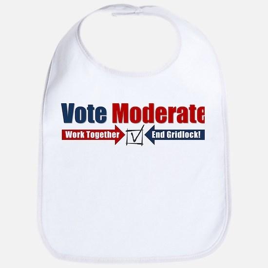 Vote Moderate Bib