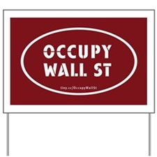 Occupy Wall St Oval Stickers Yard Sign