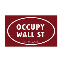 Occupy Wall St Oval Stickers 22x14 Wall Peel