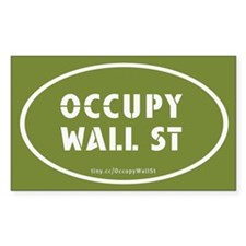 Occupy Wall St Oval Green Decal