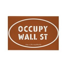 Occupy Wall St Oval Pumpkin O Rectangle Magnet
