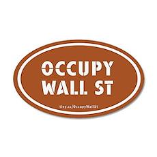 Occupy Wall St Oval Pumpkin O 22x14 Oval Wall Peel
