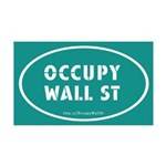 Occupy Wall St Oval Teal 38.5 x 24.5 Wall Peel