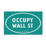 Occupy Wall St Oval Teal 22x14 Wall Peel