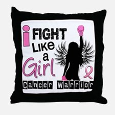 Licensed Fight Like a Girl 26W Throw Pillow