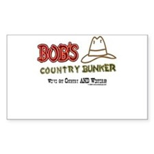 Bob's Country Bunker Rectangle Decal