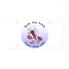 Cajun Crawfish Aluminum License Plate