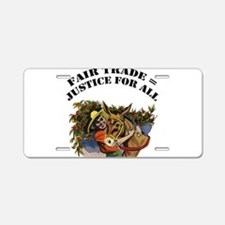 Fair Trade Aluminum License Plate