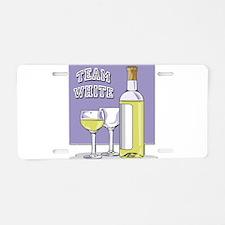 Team White Wine Aluminum License Plate