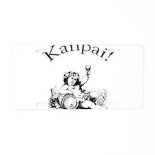 Japanese Toast Wine Aluminum License Plate
