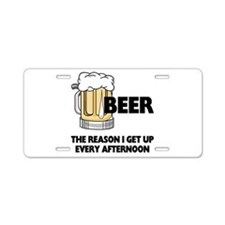 Beer Every Afternoon Aluminum License Plate