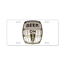 Beer On Tap Aluminum License Plate